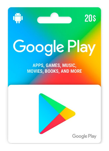 Imagen 1 de 1 de Código De Google Play $20 Usd
