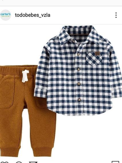Conjuntos Camisa Pantalón Carters Bebés Varon