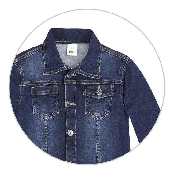Jaqueta Infantil Menino Em Moletom Jeans Puc - 324u39h