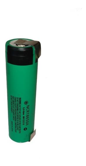 Bateria Ncr18650a Panasonic Com Terminal De Solda