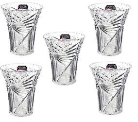 Kit 5 Un Vaso Decorativo Transparente Com Borda