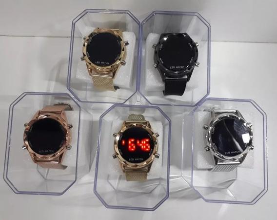 Kit Com 10 Relógios Femininos Barato + Caixa Atacado