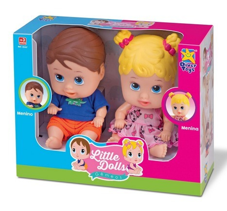Boneca Little Dolls Collection Gêmeos