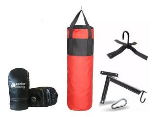 Bolsa Boxeo + Guantines + Soporte + Mosqueton Guantin Box Kit