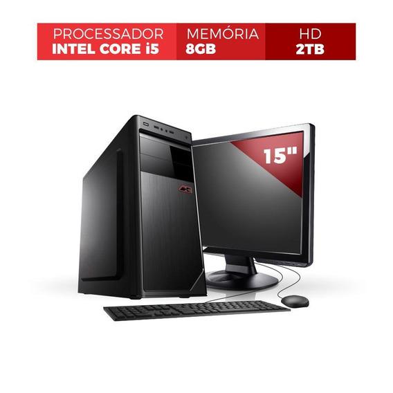 Computador Corporate Core I5 8gb 2tb Mon Led 15