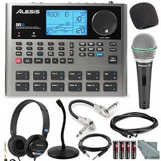 Alesis Sr18 18 Bit Portable Drum Machine With Effects And De