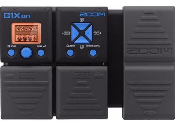 Pedaleira Para Guitarra Zoom Multiefeitos G1xon Com Efeitos