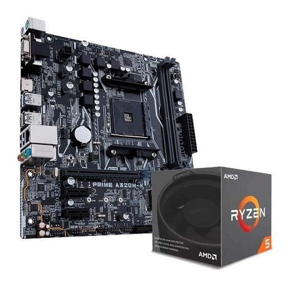 Combo Amd Ryzen 5 2600 + Mother Asus A320m-k Prime