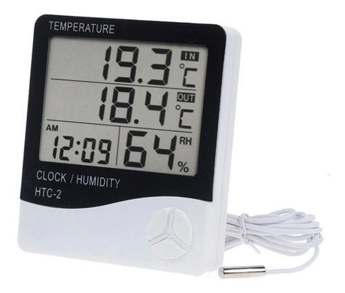 Imagen 1 de 9 de Higrometro Digital Termometro Sensor Htc Temperatura Humedad