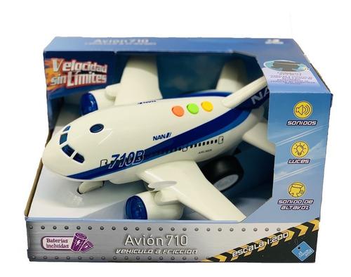 El Duende Azul Avion 710 A Friccion Luz Y Sonido Art 7089