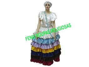 Saia 7 Babados /roupas Ciganas/umbanda/candomblé/