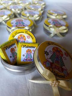 10 Latas Personalizada Souvenir Con Golosinas Personalizadas