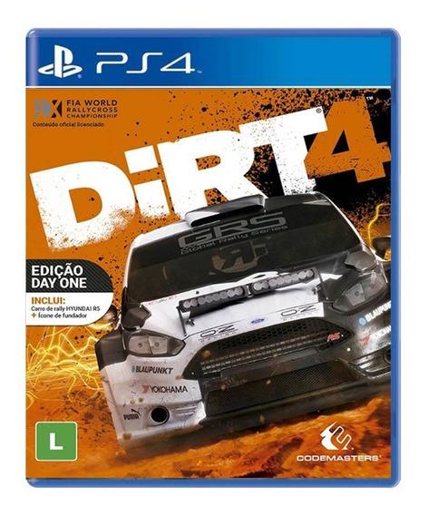 Dirt 4 - Ps4 - Novo - Mídia Física - Lacrado