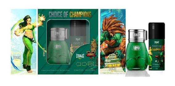 Kit Everlast Choice Of Champions Street Fighter Brasil (perfume 100 Ml + Desodorante 250 Ml)