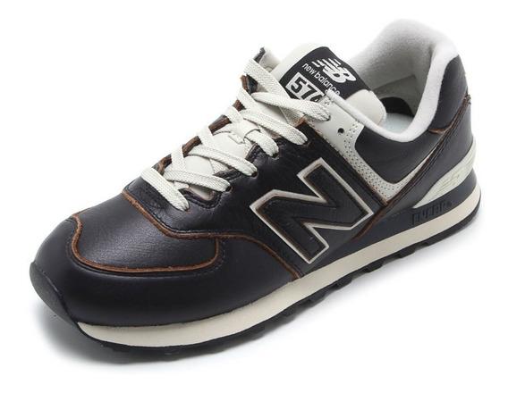 Tênis New Balance 574 Classics Couro Nb Preto/café Original
