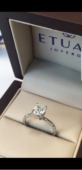 Anillo De Compromiso Con Diamante Certificado Etuali