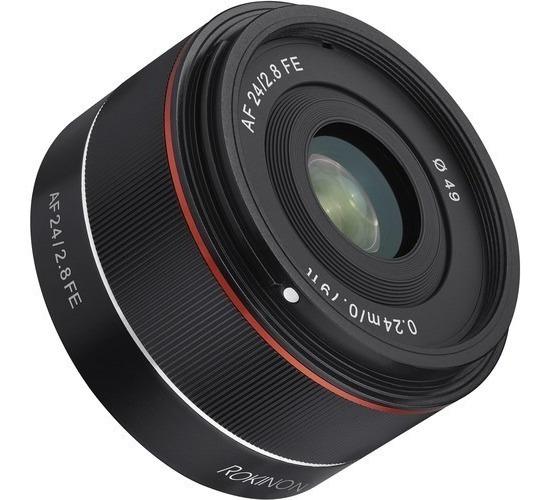 Lente Rokinon Af 24mm F/2.8 Fe Lens Sony E