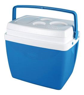 Caixa Térmica Cooler 26 Litros 35 Latas Azul Mor