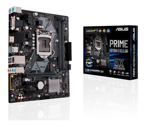 Imagem 1 de 4 de Placa-mãe Asus Prime H310m-e Intel Lga 1151 Matx Ddr4