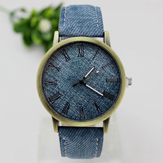 Relógio De Pulso Jeans Menino Menina Criança Adolescente 116