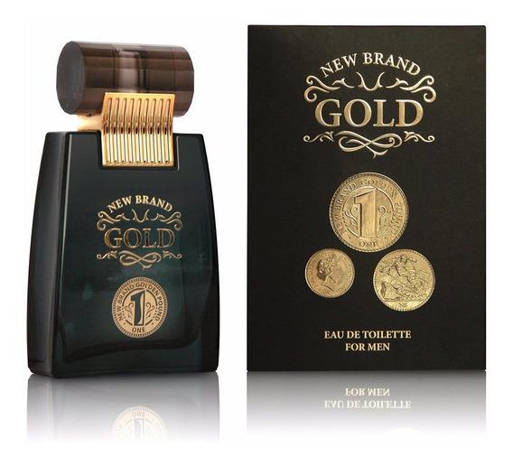 Perfume New Brand Gold 100ml - Masculino Original