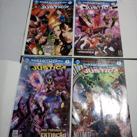 Lote Liga Da Justiça - Universo Dc Renascimento - 4 Volumes