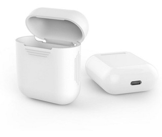Case Capa Anti-impacto Para Apple AirPods Branca E Preta