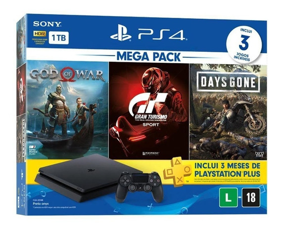 Ps4 Slim 1tb God Of War Gran Turismo Days Gone - Nacional