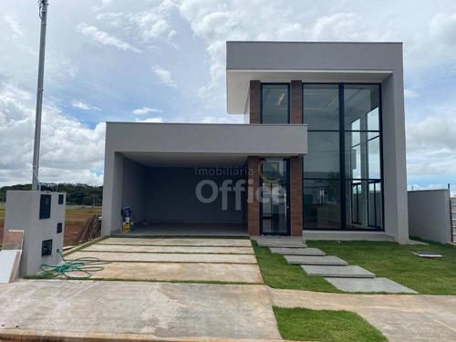 Casa À Venda, 190 M² Por R$ 980.000,00 - Condomínio Terras Alpha Anápolis - Anápolis/go - Ca0652