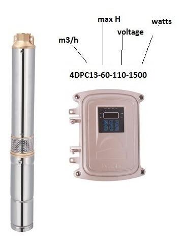 Bomba Solar Pozo Profundo Agua 13m3/h H60mt