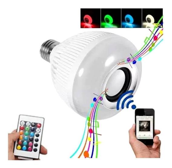 Lampada Musical Luz De Led Rgbw Bluetooth Caixa De Som E27 Banho Quarto Banheiro Churrasqueira Varanda Ofertaço Barato