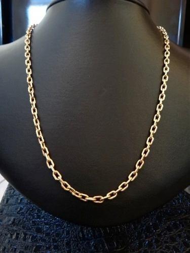 Corrente Cadeado Masculina Ouro 18k Maciça 70cm 40grs