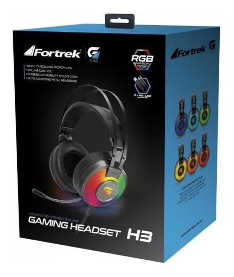 Headset Gamer Rgb G Pro H3 Cinza Fortrek Nfe Promoção