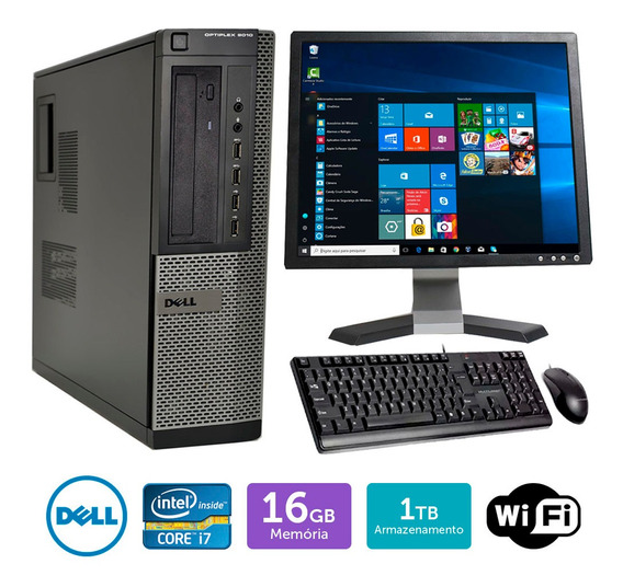 Cpu Usado Dell Optiplex 9010int I7 16gb 1tb Mon19q Brinde