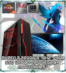 Cpu Pc Gamer Ryzen 3 2200g Quad Core 3.7ghz 4gb Ddr4 Tela 18