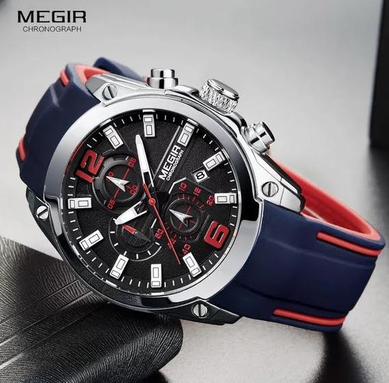 Relógio Original Megir 100% Funcional À Prova D