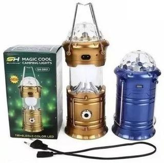 Lampião Lanterna Led Bola Magica Maluca Magic Recarregável