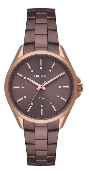 Relógio Orient Original Feminino Analógico Ftss0068 Marrom
