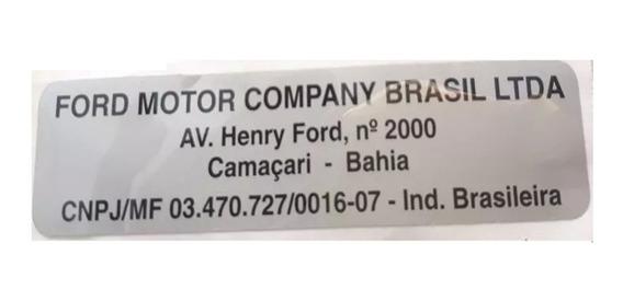 Etiqueta Planta Manufatura Camacari Bahia Fiesta 2002/2014