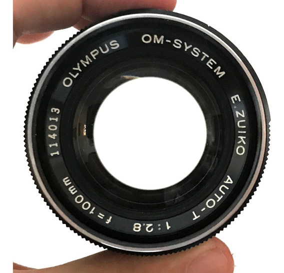 Lente Olympus E. Zuiko 100mm 2.8 Om System