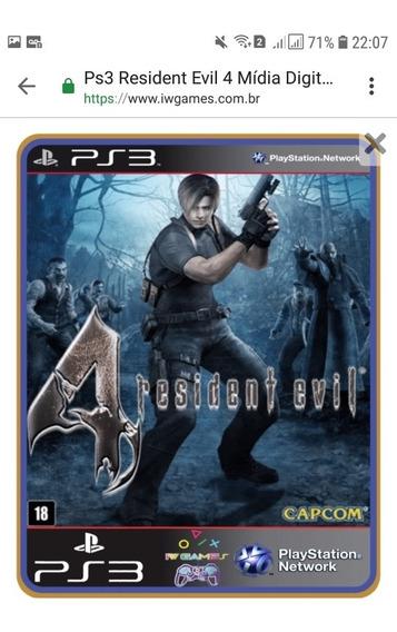 Resident Evil 4 Ps3 Mídia Digital