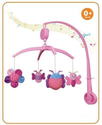 Movil Musical Insectos Rosado
