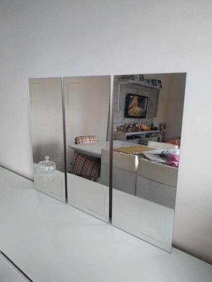 Espelho Decorativo De Vidro 65x30 Cm 03 Peças