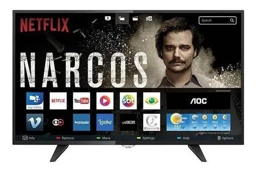 Smart Tv 43 Aoc Lcd Led Le43s5970 Full Hd, 3 Hdmi, 2 Usb