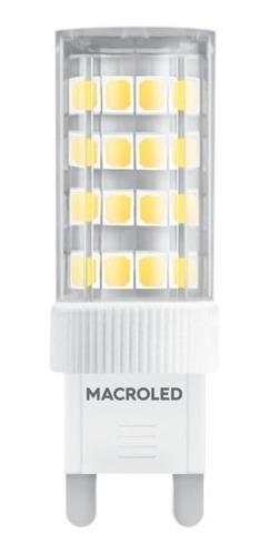Pack X10 Macroled Bipin G9 4.5w Blanco Cálido 2700k