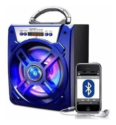 Caixa Som Portatil Amplificada Usb Mp3 Fm Sd Bluetooth Recar