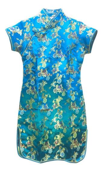 Vestido Oriental Estampa Floral Frete Gratis
