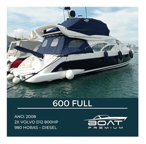 600 Full, 2008, 2x Volvo D12 800hp - Sedna-azimut- Ferretti