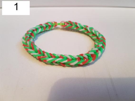 Pulseira Elastico 2 - Rainbow Loom 7 Unidades Coloridas Moda