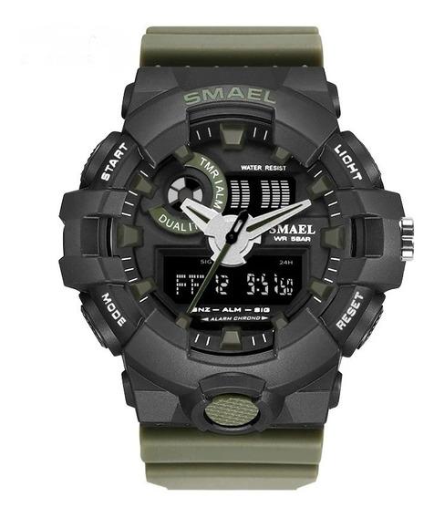 Relógio Masculino Esportivo Militar Shock Smael Ws1642-8